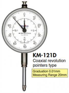 KM-121D Đồng hồ so kim dài 0.01mm Teclock