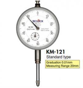 Đồng hồ so 0.01mm kim dài KM-121 / KM-130 / KM-131 Teclock