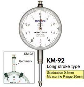Đồng hồ so 0.1mm Teclock - TM91, KM92, KM93 Teclock