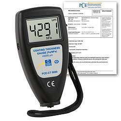PCE-CT 5000-ICA incl. Thickness Meter  ISO Calibration Certificate